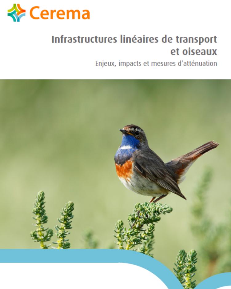 Infrastructures linéaires de transport et oiseaux. Cerema