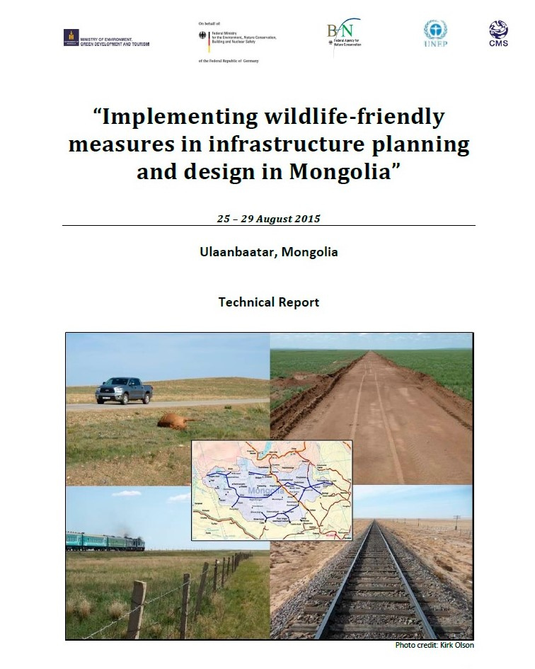 Implementing wildlife-friendly measures in infrastructure planning and design in Mongolia. Ministry of environment, green developement and tourism