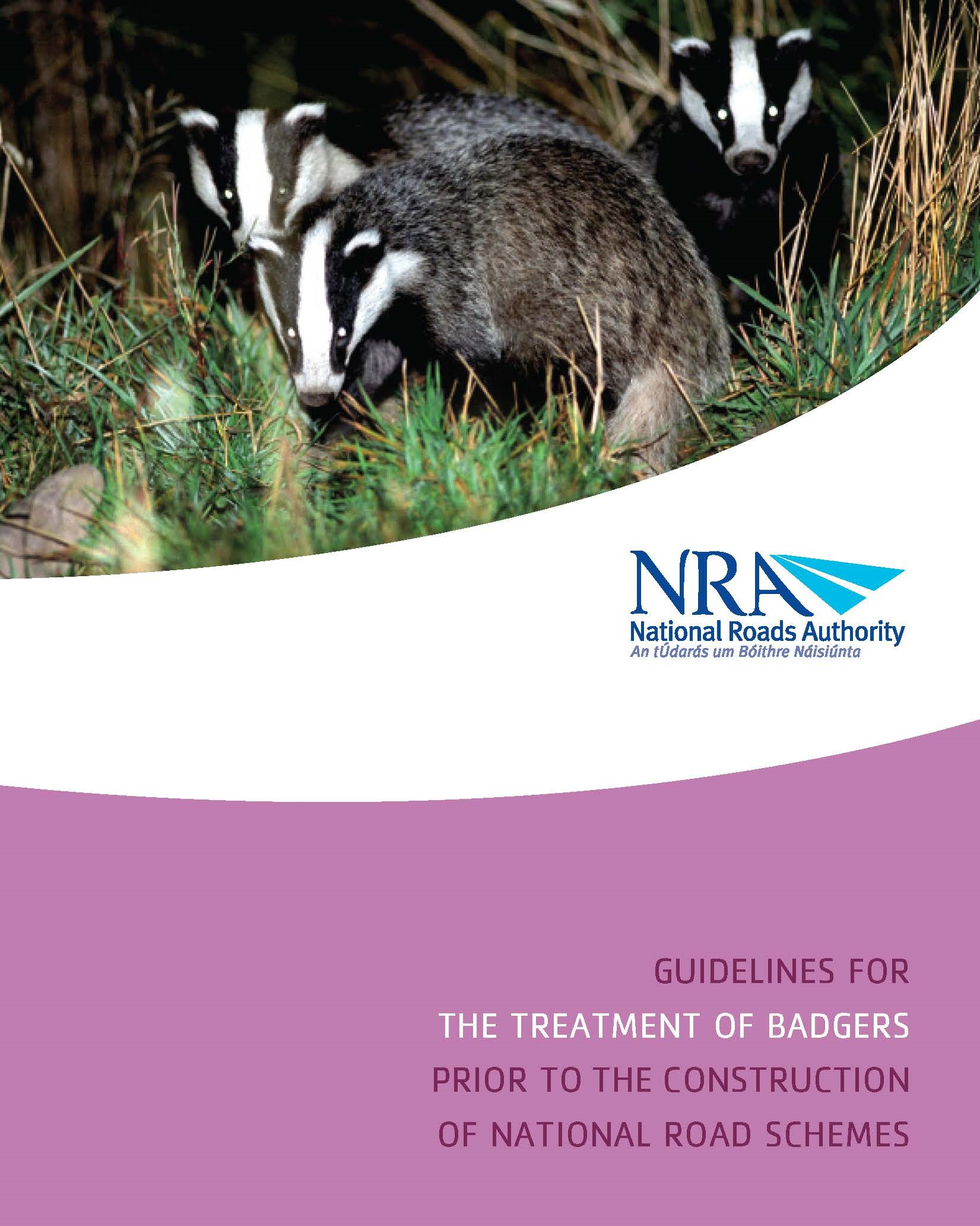 Guidelines for the Treatment of Badgers Prior to the Construction of National Road Schemes. National Roads Authority (NRA)