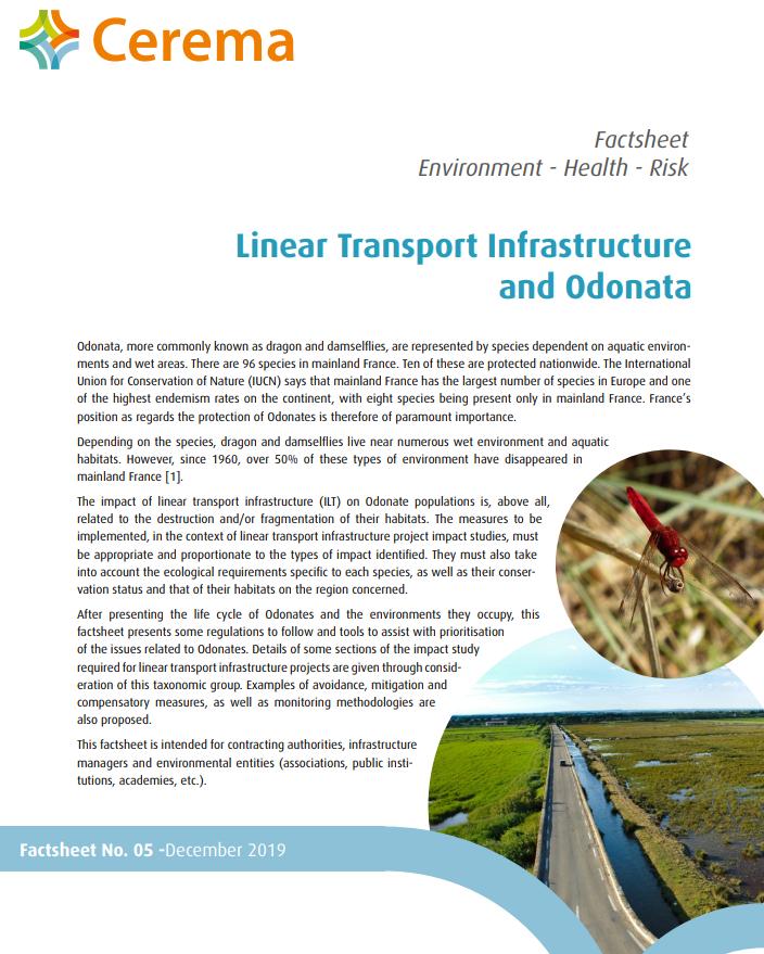 Linear Transport Infrastructure and Odonata. Cerema