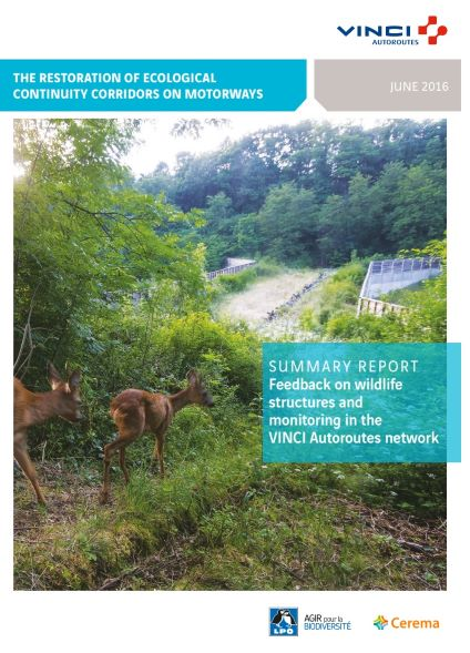 The Restoration of ecological continuity corridors on motorways. Cerema – VINCI Autoroutes network