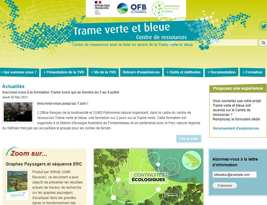 Trame verte et blue – resource centre