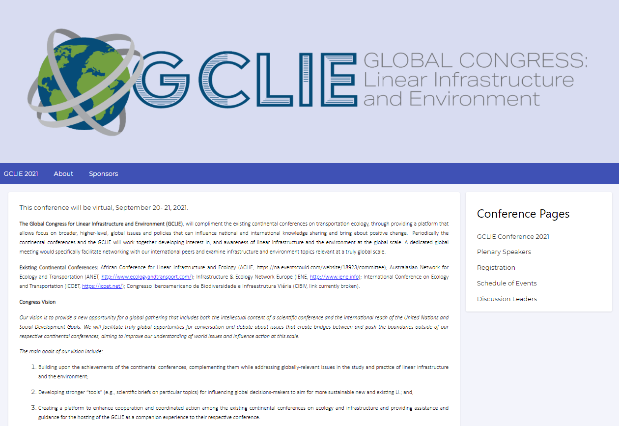 Global Congress for Linear Infrastructure and Environment (GCLIE)